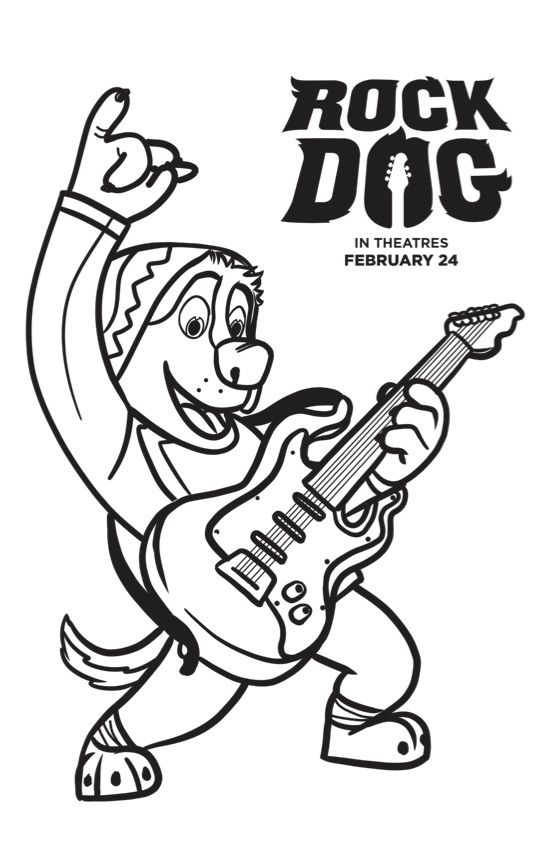 Free Rock Dog Coloring Pages Bodi | Free Coloring Pages for Kids ...