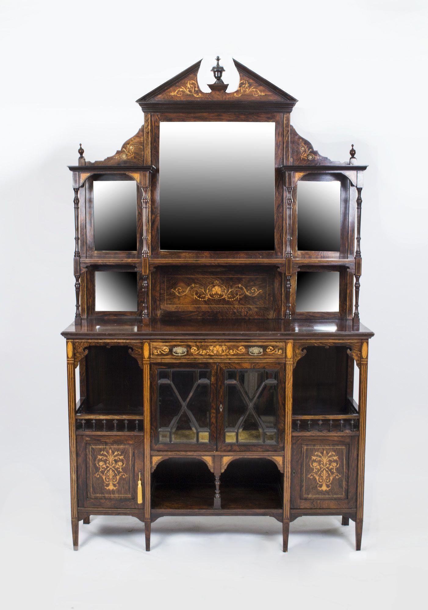 07017-Antique-Edwardian-Inlaid-Rosewood-Cabinet-c.1900-1 ...