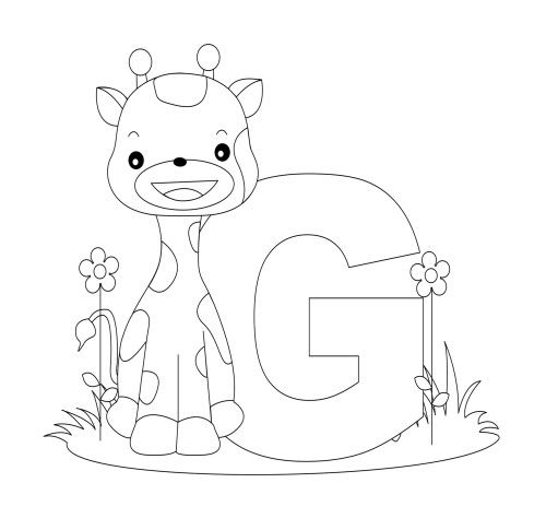 Animal Alphabet Letter G Coloring Pages   letters ...