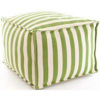 Fresh American Trimaran Stripe Sprout & Ivory Indoor / Outdoor Pouf