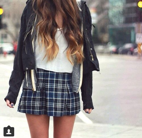 ce32448501 plaid skirt | brandy melville | outfit | Fall Lookbook | Fashion ...