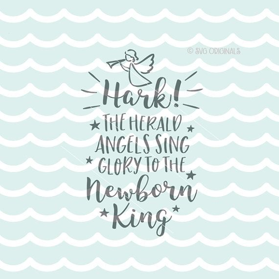 Hark The Herald Angels Sing Svg Rudolph Svg File Cricut