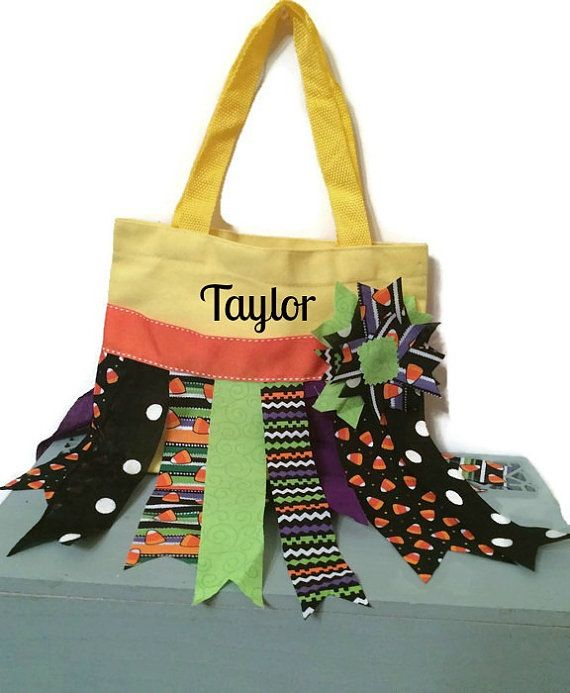 Personalized Trick or Treat bag Halloween Rag by EssentiallySavvy