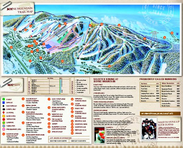 Boyne Mountain Ski Trail Map 1 Boyne Mountain Road Boyne Falls Mi 49713 Ski Trails Trail Maps Panoramic Map