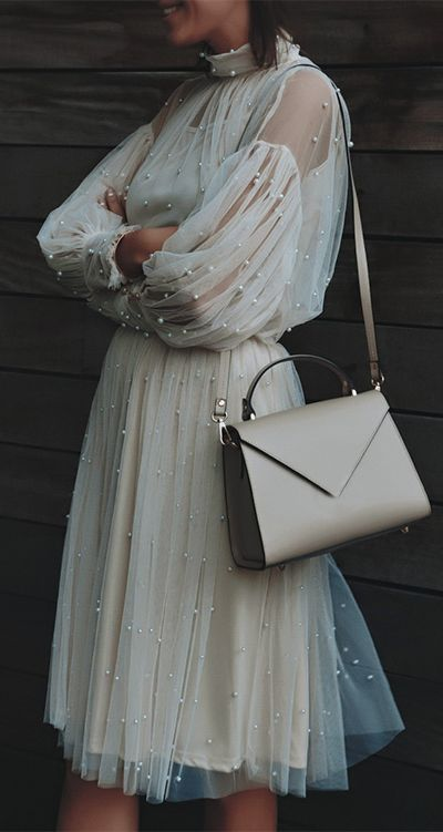 What are you doing up at this pearly hour? Slaying of course! Surely Sweet Pearls Mesh Top and Skirt featured by Cristinasurdu Blog