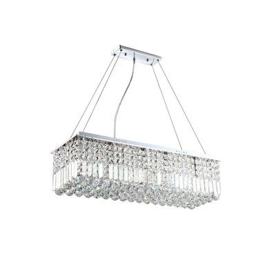 "23 5/8"" Modern Style Chandelier with Crystal Ornaments"