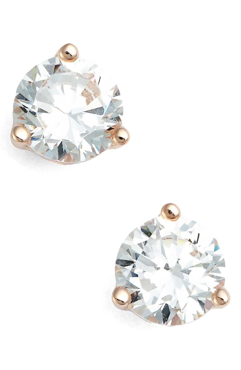 5f1b31df8dc265 Free shipping and returns on Nordstrom 1ct tw Cubic Zirconia Earrings at  Nordstrom.com. Classically chic, handcrafted studs feature a sparkling  faceted ...