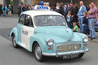 Morris Minor Hire Movie Police Car South Wales