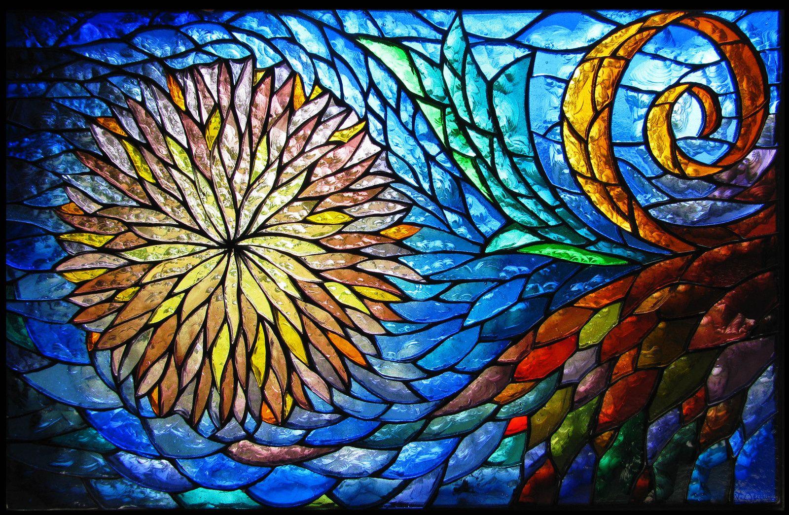 Verre Clair Saint Maximin vitrail décoration, non-figuratif | vitrail, les arts