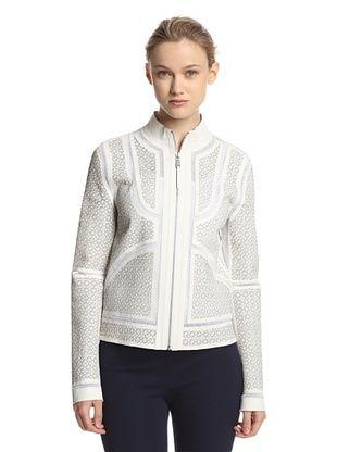 Elie Tahari Women's Highline Laser Cut Jacket (White)