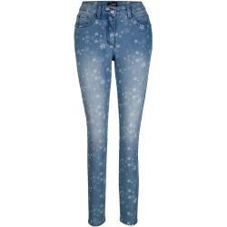 Amy Vermont, Jeans im allover Blütendruck, blau Amy Vermont