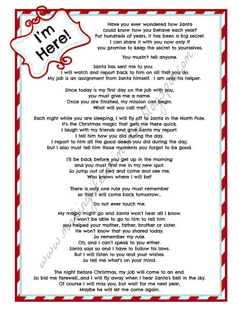 FREE Printable Elf letter from Making Life Whimsical We Believe in