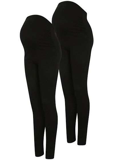 b9157b6584363 Maternity 2 Pack Over Bump Leggings, read reviews and buy online at George  at ASDA. Shop from our latest range in Women. Because we know comfort is an  ...
