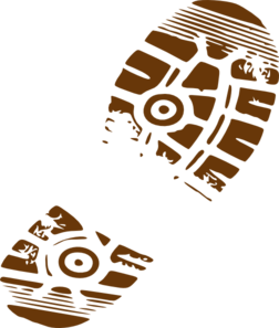 Muddy Footprints Clipart Clip Art Footprint Shoe Print
