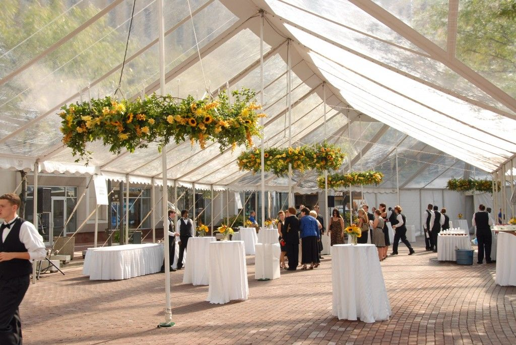 Clear Tent For The Reception Modern Outdoor Wedding Daytime