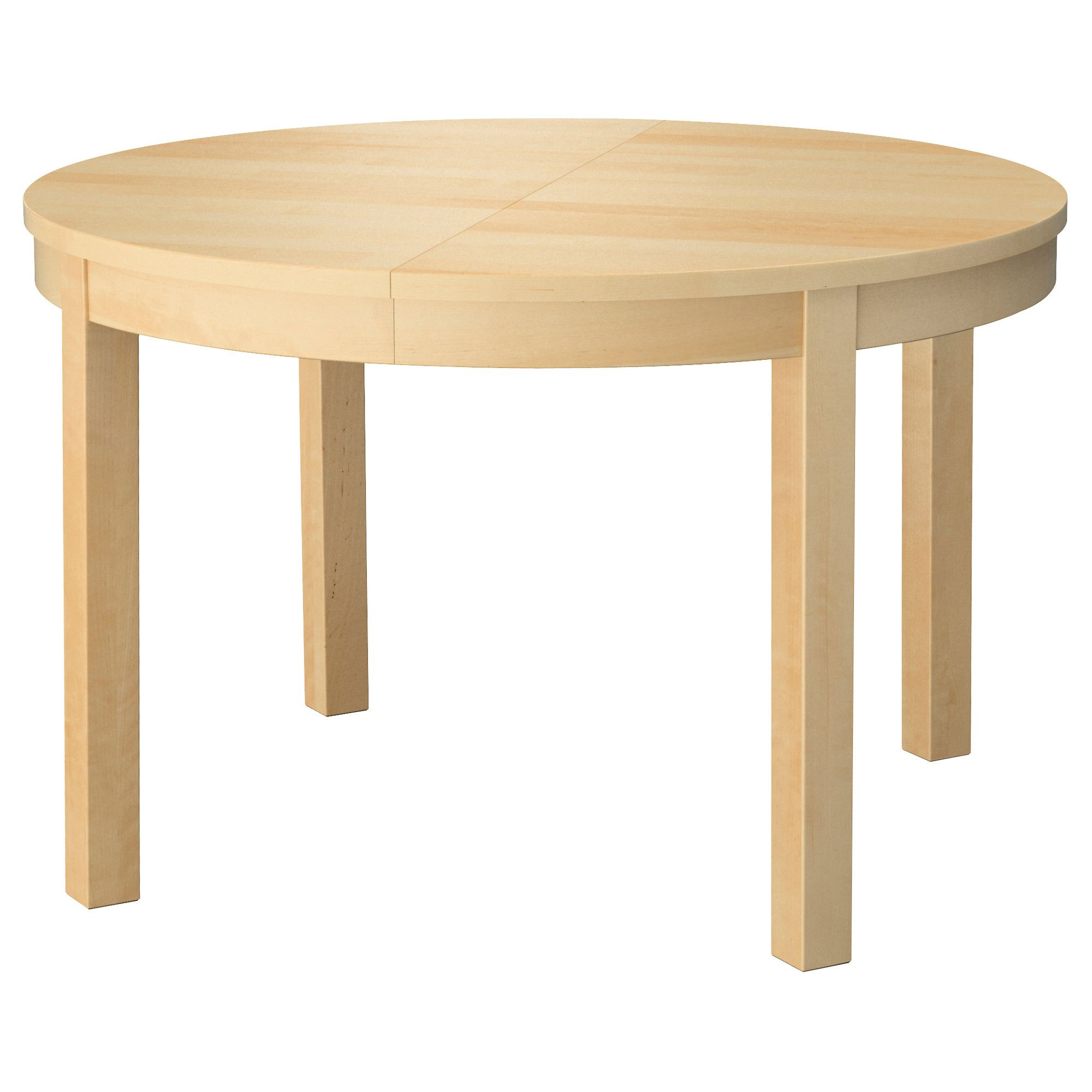 bjursta extendable table birch veneer ikea seats 4 6 would be perfect for our rounded. Black Bedroom Furniture Sets. Home Design Ideas