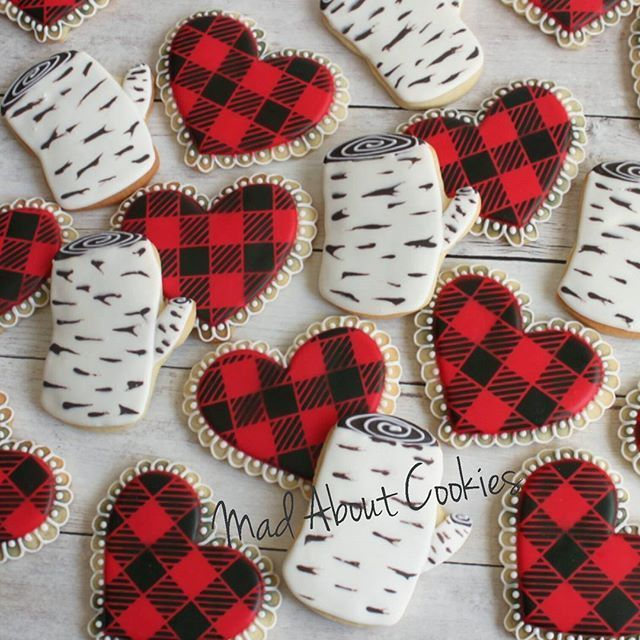 Birch and buffalo plaid cookies | Buffalo Plaid Obsession ...