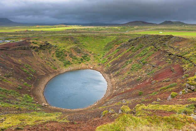 You can visit a lake inside a volcanic crater.
