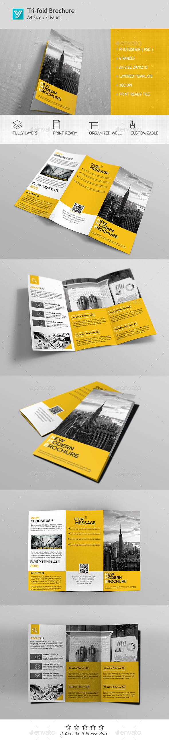 Corporate Trifold Brochure Template PSD Design Download Http - Brochure template for photoshop