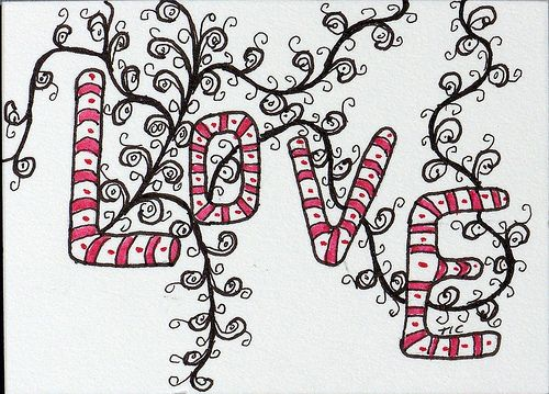 Zentangles: Love On A Vine