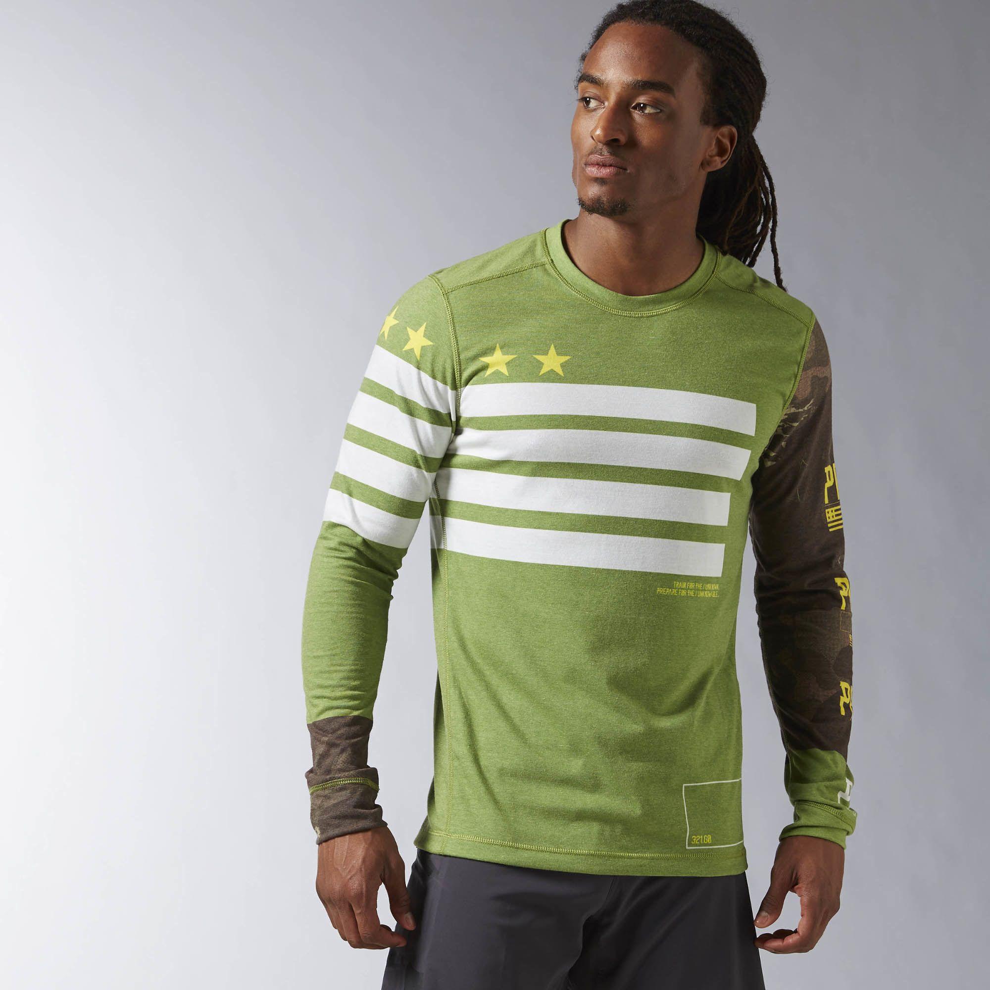 70b7b142 reebok deals, Reebok crossfit long sleeve performance blend tee with ...