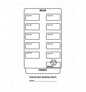 School Bus Seating Chart Template Word Excel Formats Classroom