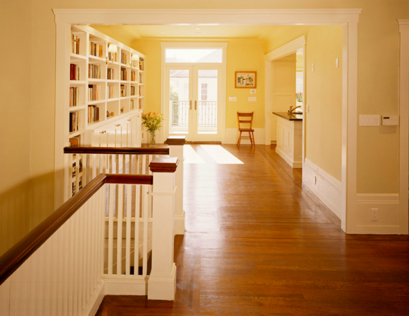 Love the mix of yellow walls, white trim, and hardwood | Daydreaming ...