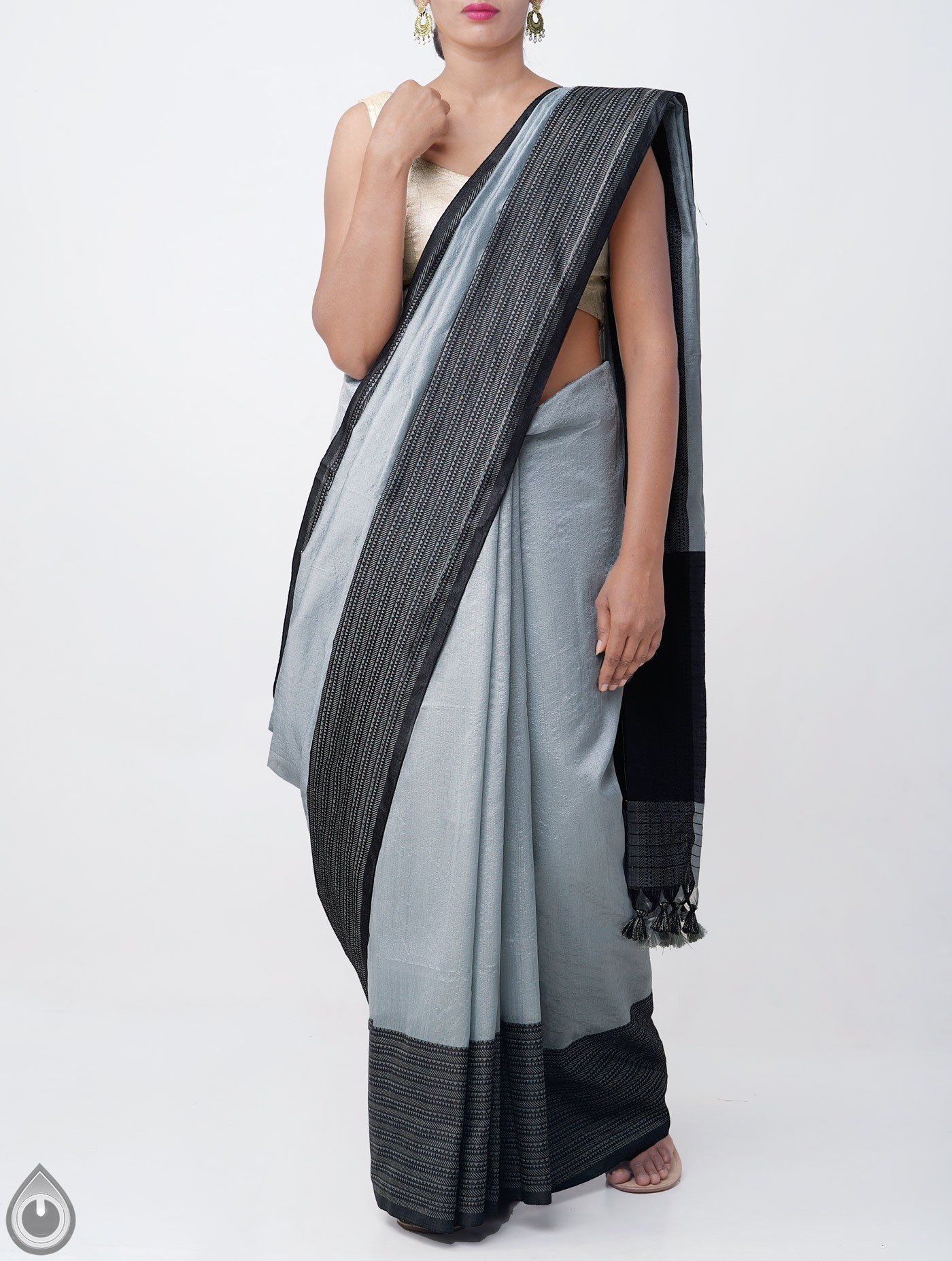 54f41ebb19 ... Weaving Sarees 2019 by unnatisilks. It has thread woven black elegant  pallu with tassels and thread woven black border. The