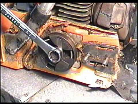 Husqvarna 288xp Chainsaw How To Clutch Drive Sprocket Removal Installation Chainsaw Chainsaw Repair Bike Repair