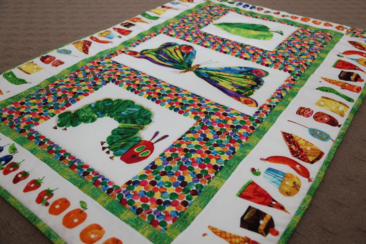 Image result for hungry hungry caterpillar quilt pattern