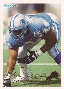 1994 Fleer #159 Kelvin Pritchett  - Detroit Lions.