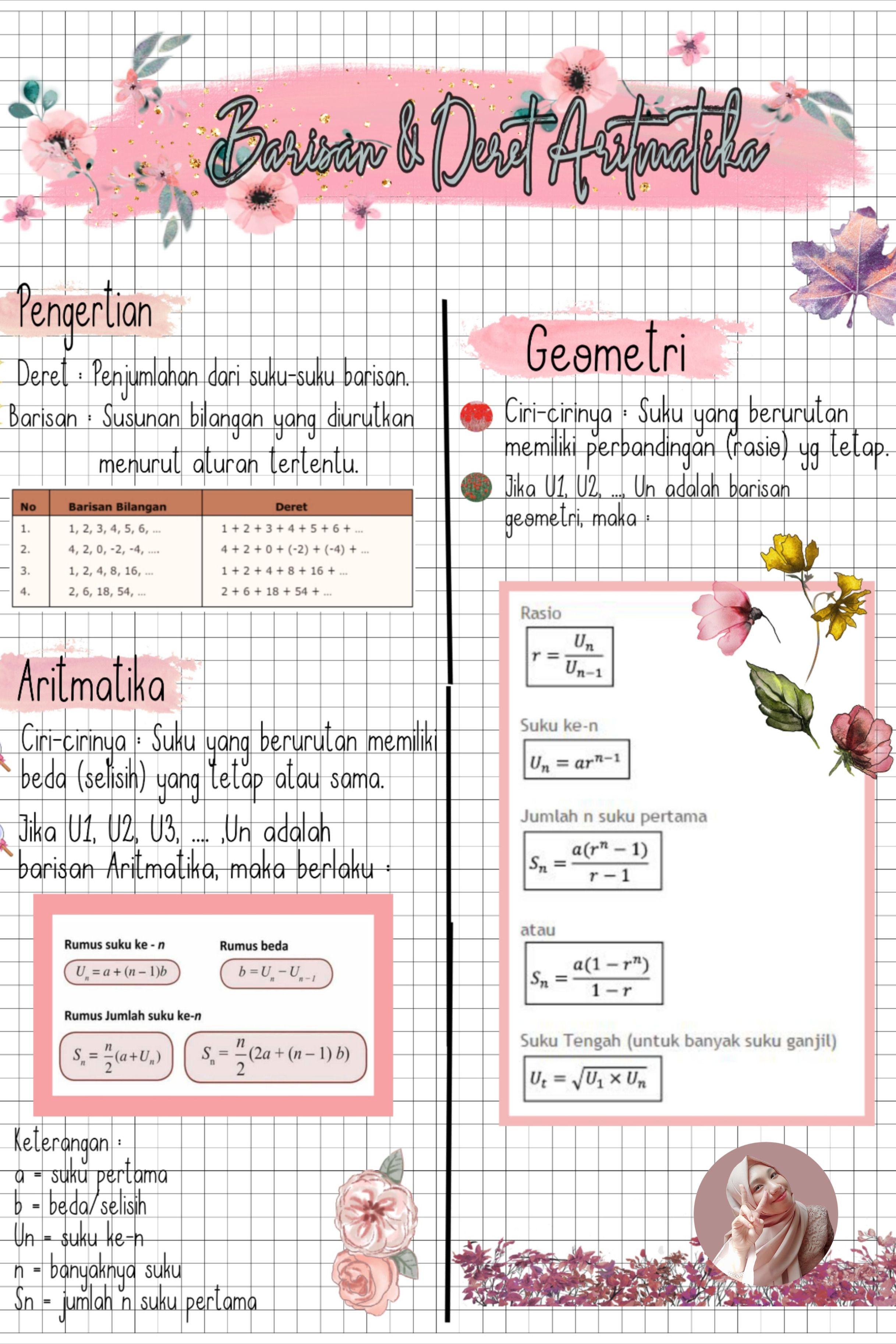 Catatan Matematika Aesthetic Math Notes Matematika Kelas 8 Pelajaran Matematika Belajar