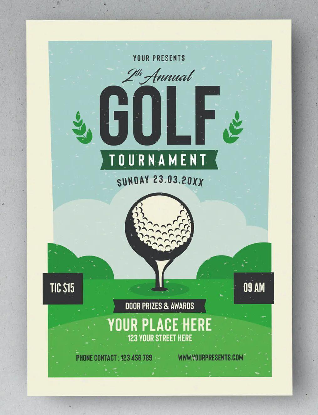 Golf Tournament Flyer Template Golf Tournament Flyer Tournaments Golf tournament flyer template publisher