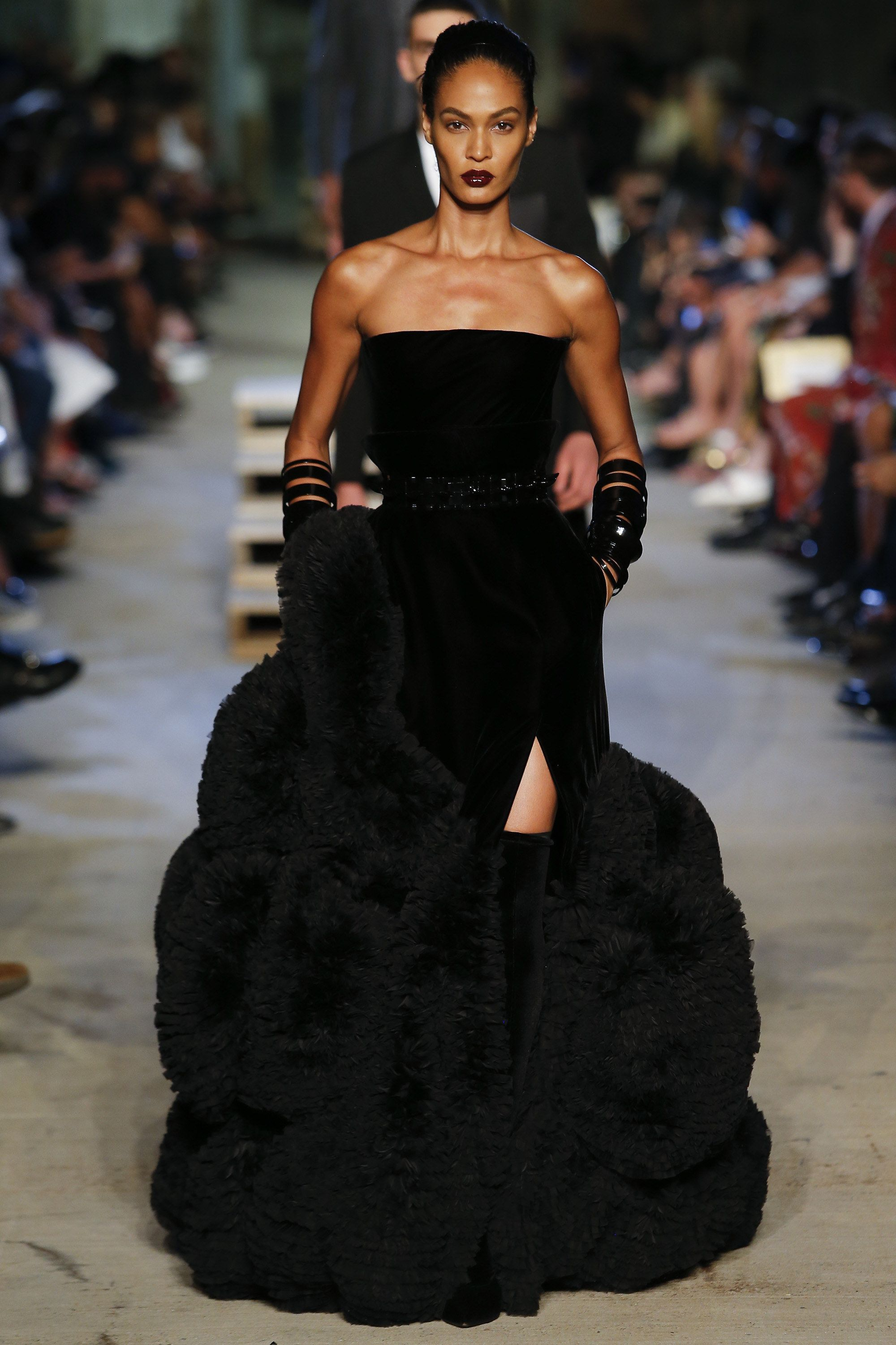 Joan Smalls brought the drama on Givenchy s Spring 2016 runway c37a2658b