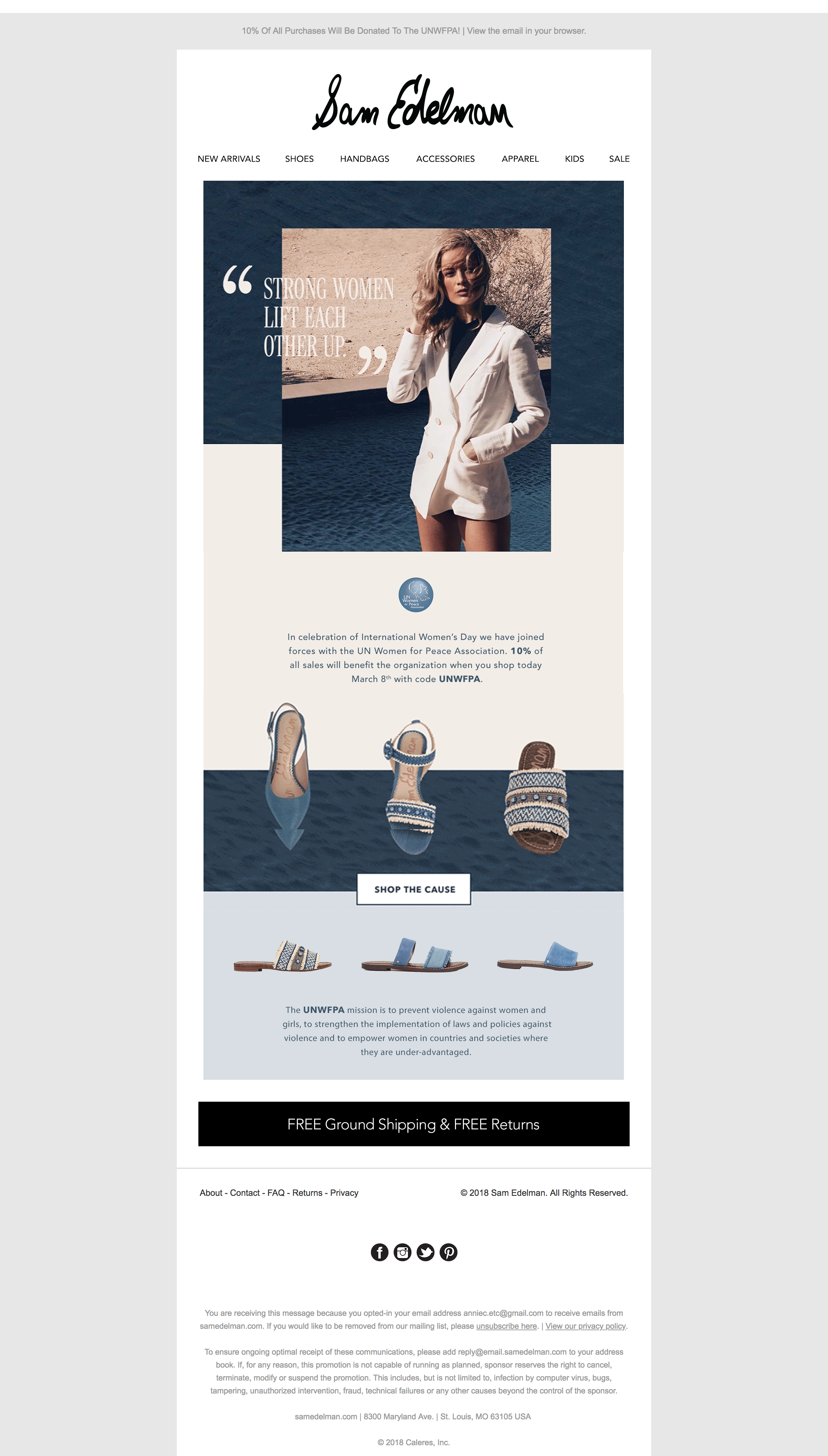 Good Example Of Texture Use Balancing Imagery Copy With Negative Space Email Design Inspiration Email Design Web Development Design