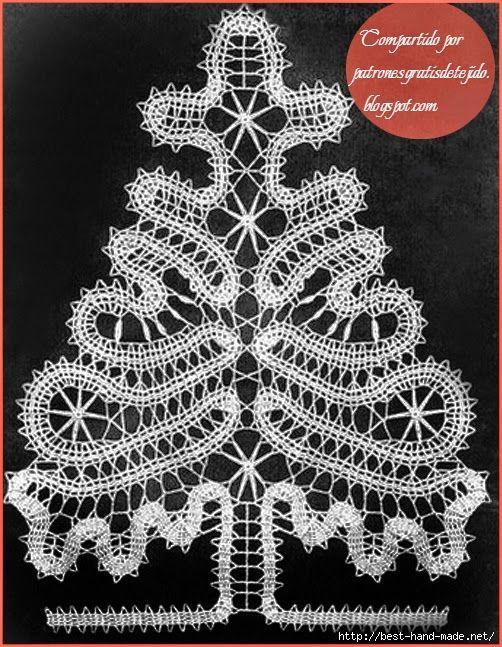 Patrón de pino para tejer con técnica de encaje de brujas | Bobbin ...