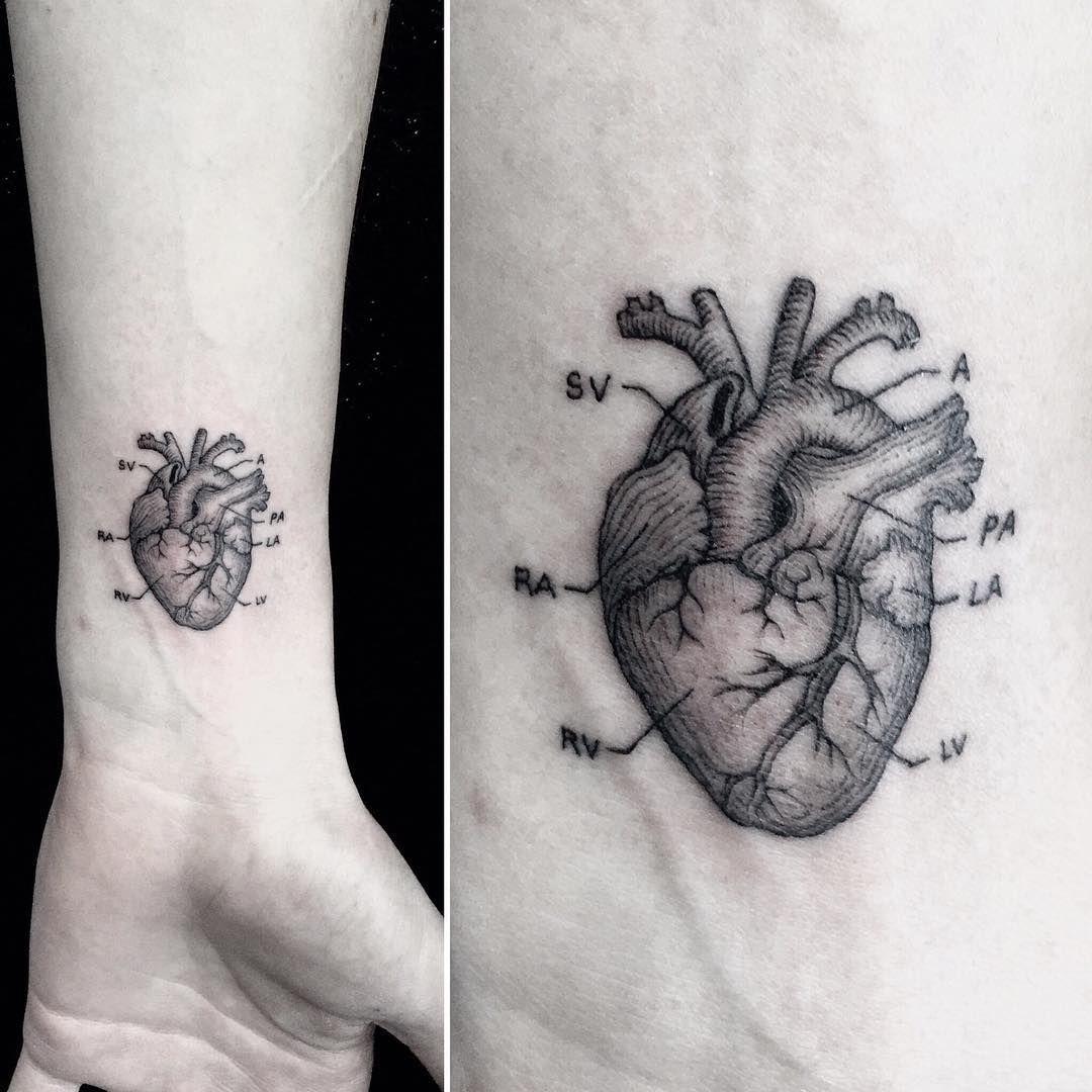 small anatomical heart #tattoo by MR.K / Sanghyuk Ko @ Bang Bang NYC ...