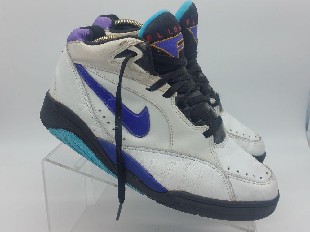 cac97b302796 VTG  93 Nike Air Flight Sonic Mid White Bright Concord Shoes 130150 112 00  9.5  Nike  BasketballShoes