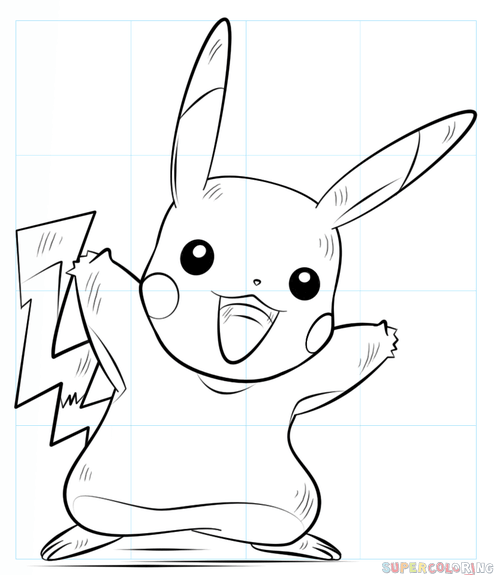 How To Draw Pikachu Pokemon Step By Step Drawing Tutorials For Kids And Beginners Pikachu Drawing Drawing Tutorial Drawings