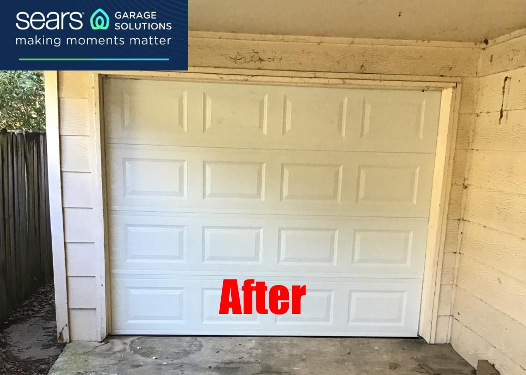 Pin By Sears Garage Solutions On 8x7 Garage Door Replacement In 2020 Garage Doors Garage Garage Door Types