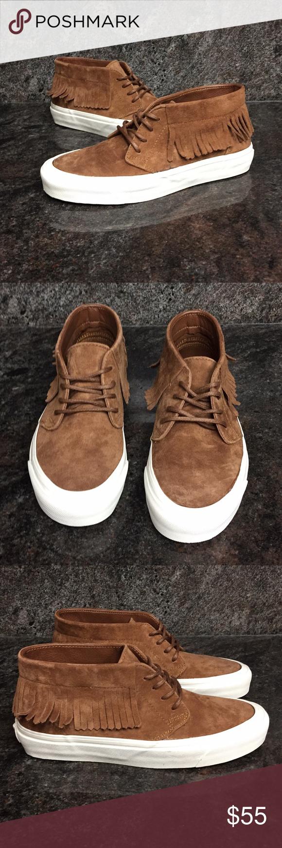 9d67edc46724 🔥Sale Vans Chukka Moc DX Fringed Mid Top Sneakers Vans Chukka Moc DX  Fringed Mid