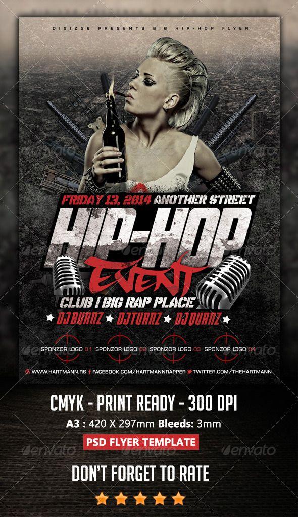 Hip Hop Flyer Flyer Flyer Template Hip Hop