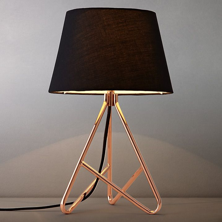 Buy john lewis albus twisted table lamp black copper online at johnlewis com