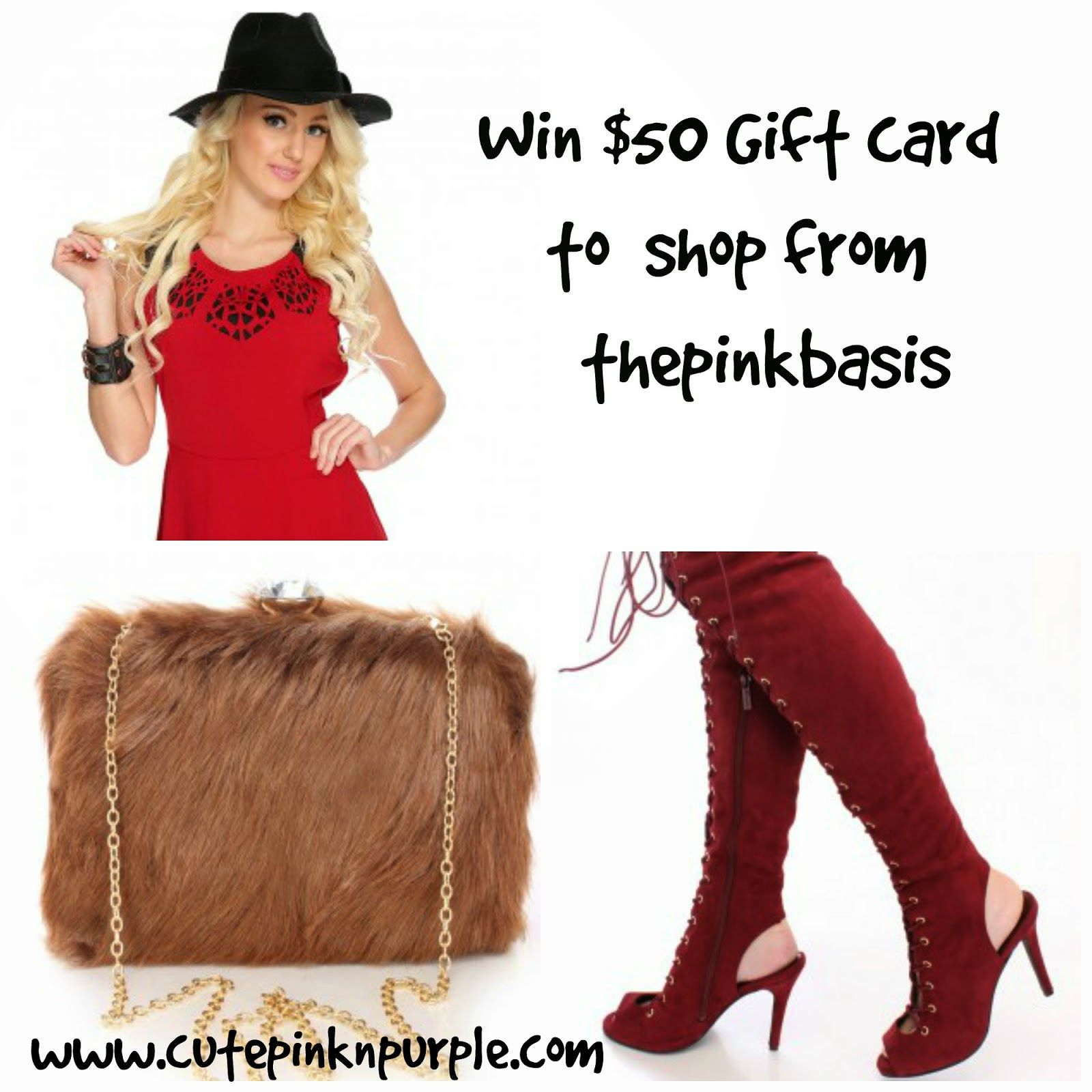 You can #WIN a $50 gift card to Pink Basis! Enter here: http://bit.ly/1JK7D3C #Fashion