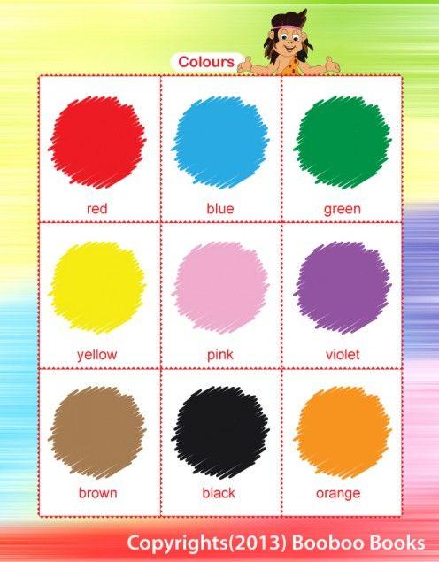 Number Names Worksheets preschool color chart : 1000+ images about Kindergarten on Pinterest