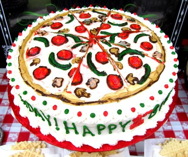 Pizza Party Cake