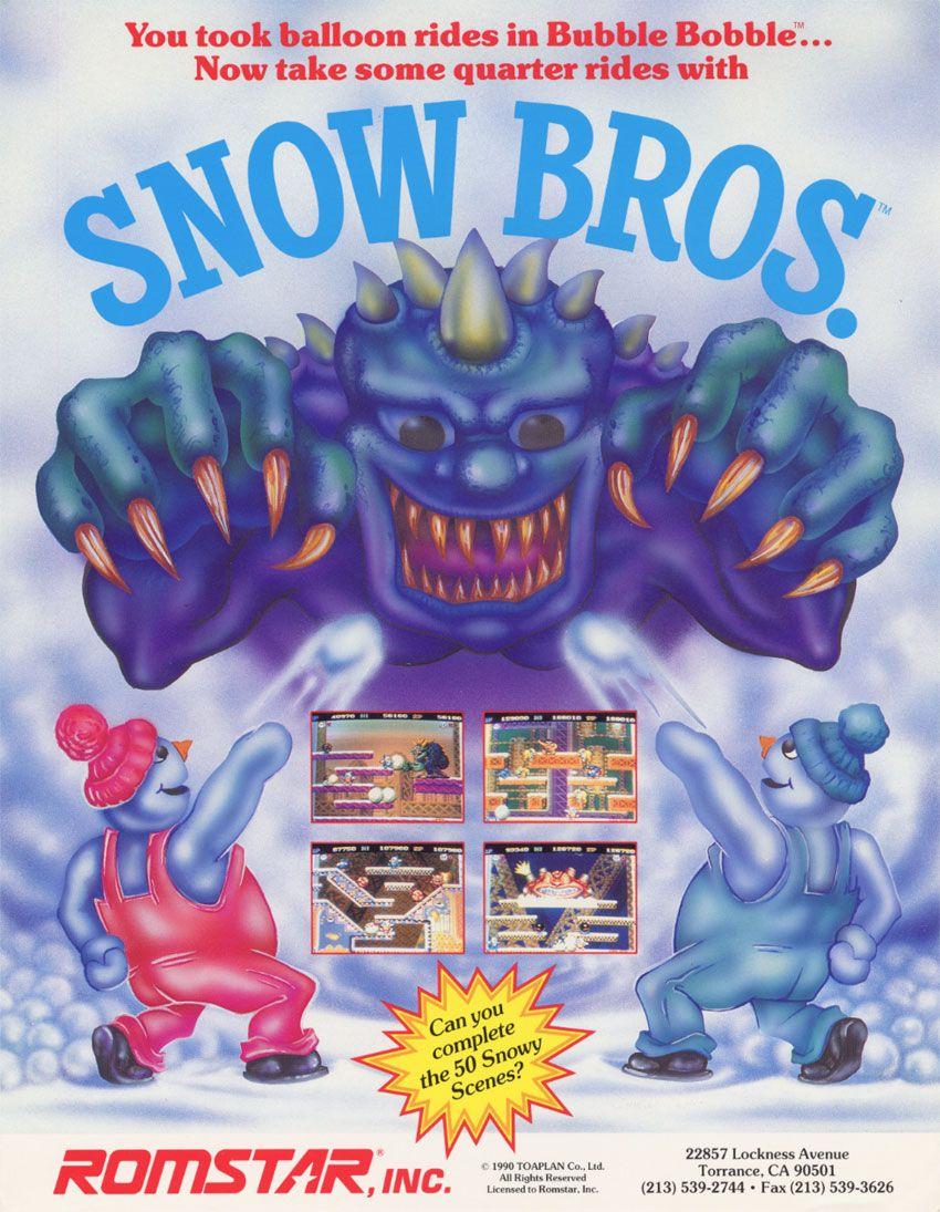 Snow Bros Arcade game machines, Arcade, Archive video