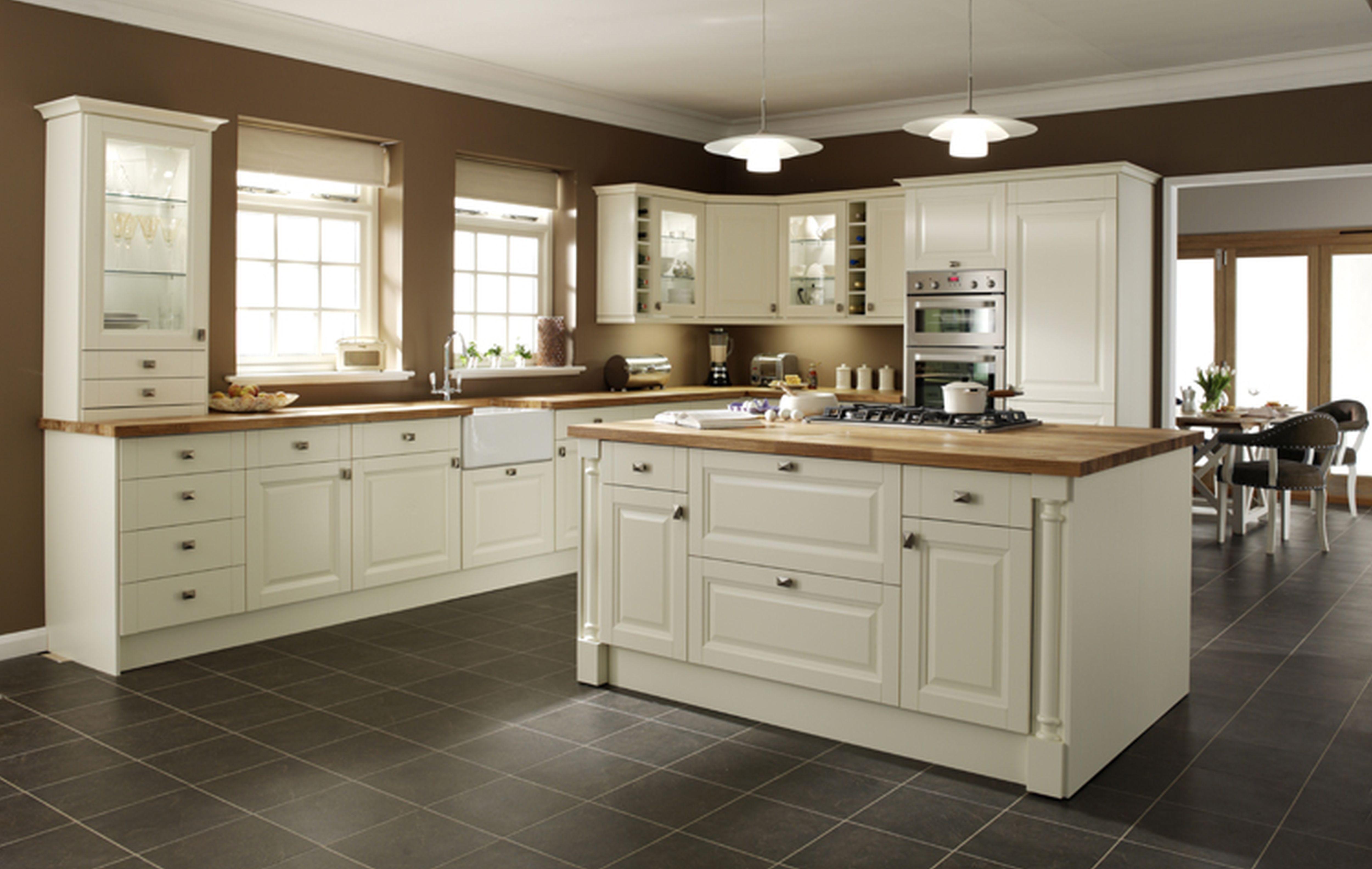 KitchenAwesome Interior Gray Square Tile Kitchen Floor