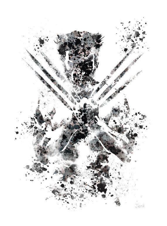Ilustracion De Arte Print De Wolverine X Men Marvel Decoracion