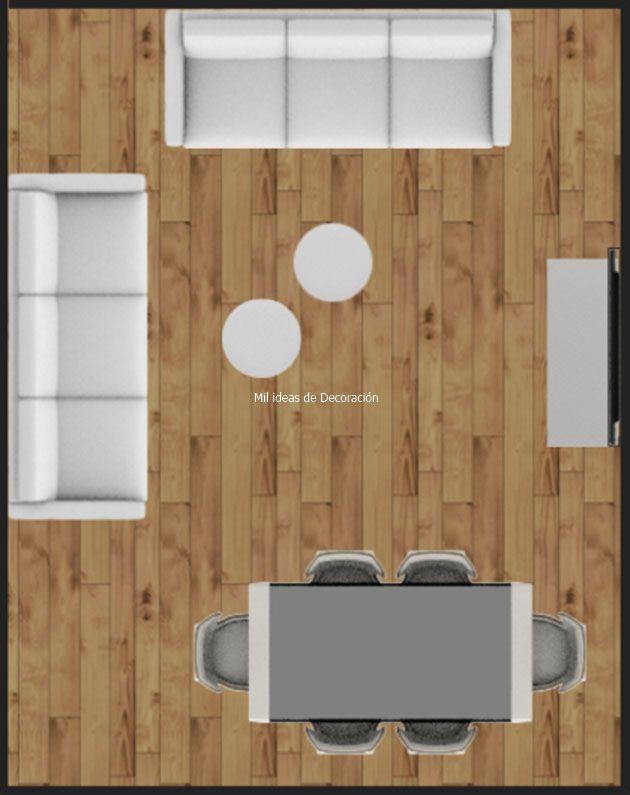 20 formas de distribuir un salón comedor rectangular ...